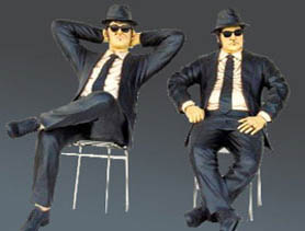 DecoFreak.nl decoratie beelden | Blues Brothers